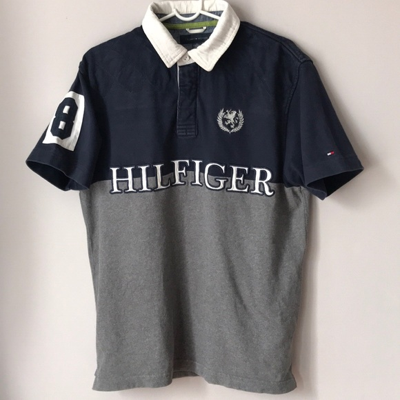 439ee63efe6 Tommy Hilfiger Shirts | Vintage Spell Out Rugby Polo Shirt | Poshmark